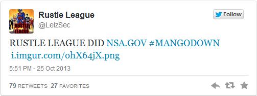 NSA hacker tweet