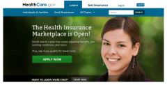 Obamacare website before