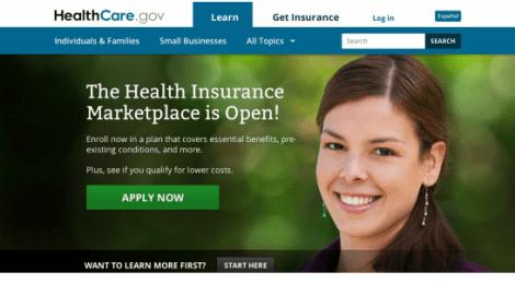 Obamacare website before