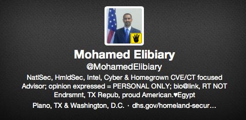 Mohamed Elibiary Twitter bio