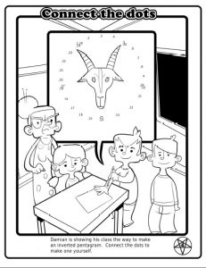 Satanic coloring book, fact sheets up for review in Fla