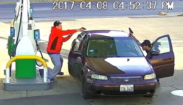 chicago gas station shootout Ronald Morales Elmwood Park, Illinois screenshot video