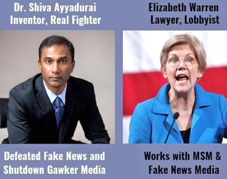 real indian V.A. Shiva Ayyadurai versus fake indian elizabeth warren
