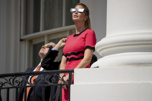 First family watches eclipse from balcony trump sets for Balcony sessions