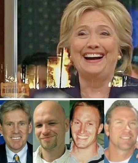 hillary clinton blamed benghazi muslim video laughing