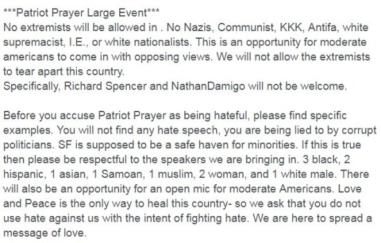 patriot prayer facebook event details