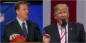 NFL Commissioner Roger Goodell's ironic response to Trump backfires; shows he is indeed a coward