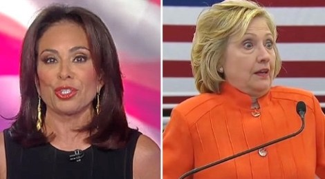 udge jeanine pirro hillary clinton karma is a bitch