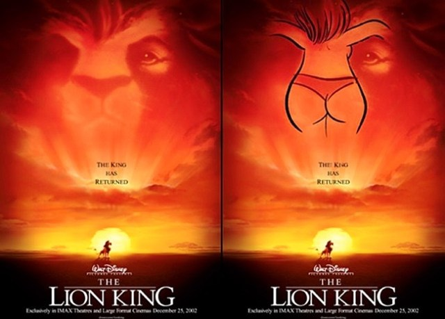 lion king subliminal message naked woman