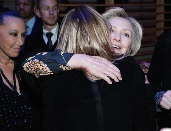 Getty Donna Karan-Hillary Clinton