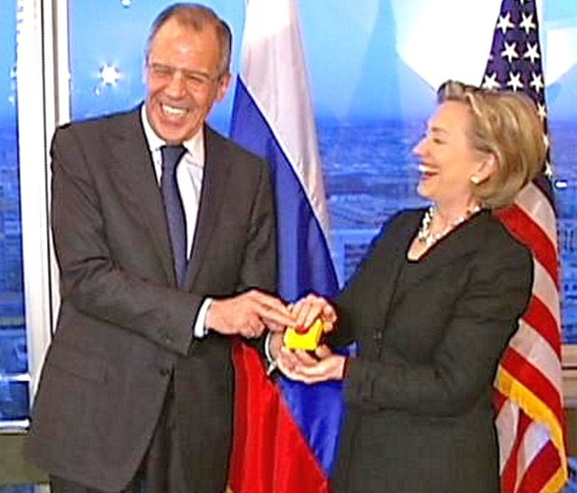 hillary russia reset button Russian Foreign Minister Sergey Lavrov