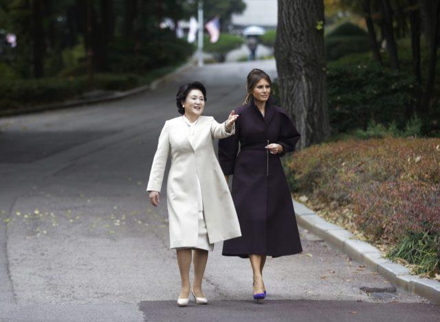 AP Melania Trump, Kim Jung-sook