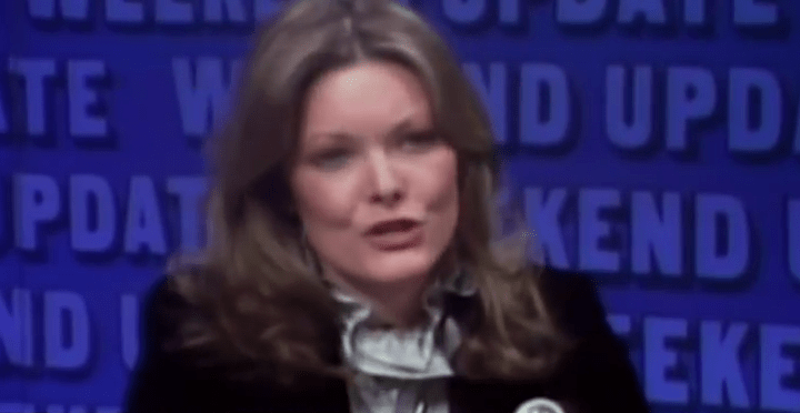 Actress Jane Curtain was an original cast member of SNL and vouched for Franken. Image vintage SNL screenshot