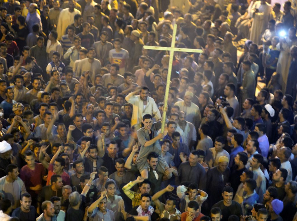 Muslim demonstrators attack Christians at church in Egypt