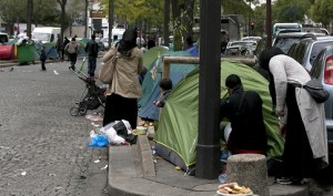 Paris residents threaten hunger strike if migrants aren't cleared from the streets