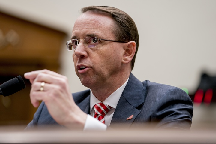 Rosenstein says there is no reason to justify firing Mueller