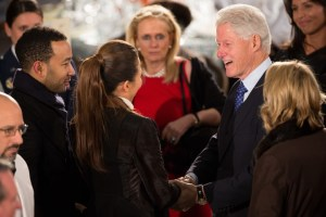 John Legend threatens to sue over pizzagate claim aimed at wife Chrissy. Chelsea Clinton steps in mix.