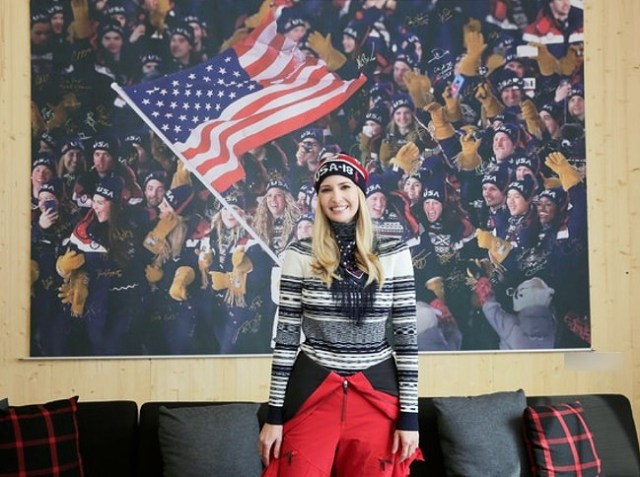 Ivanka Trump at the Winter Olympics in Pyeongchang, South Korea.