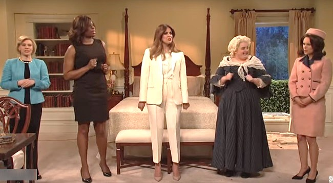 Four First Ladies Convene at SNL's White House to Advise Melania Trump