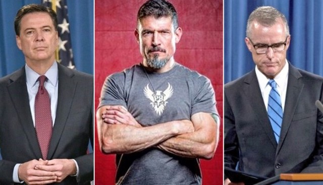 Benghazi hero Kris Paronto shut down fired FBI employees James Comey and Andrew McCabe. (screenshots)