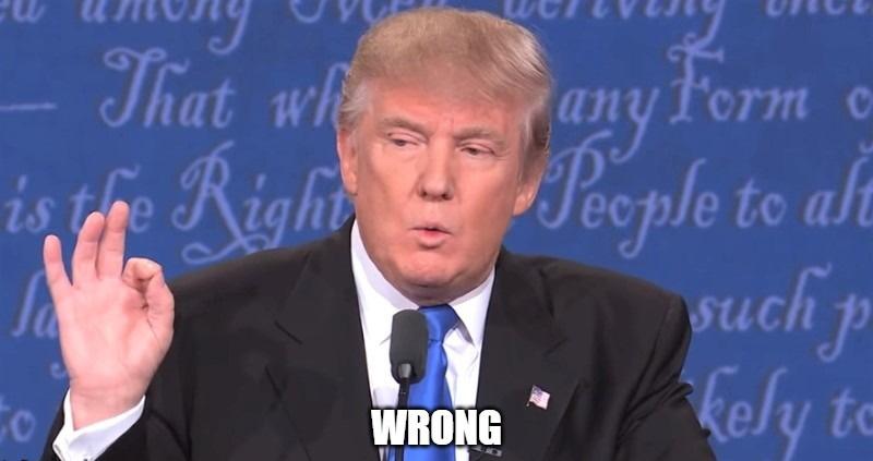 trump calls fox news poll wrong