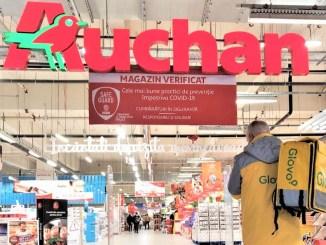 Parteneriat Auchan și Glovo. FOTO TotalPR