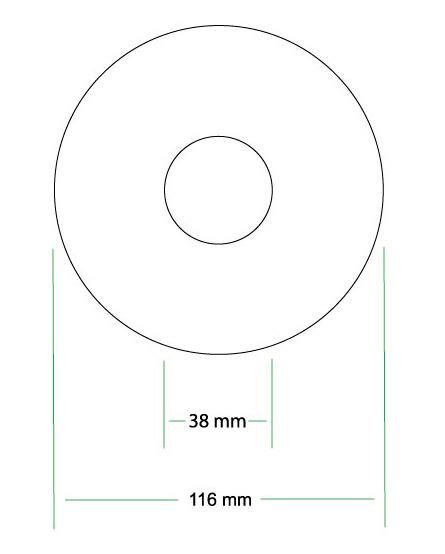 Extended CD Label Art Design Template