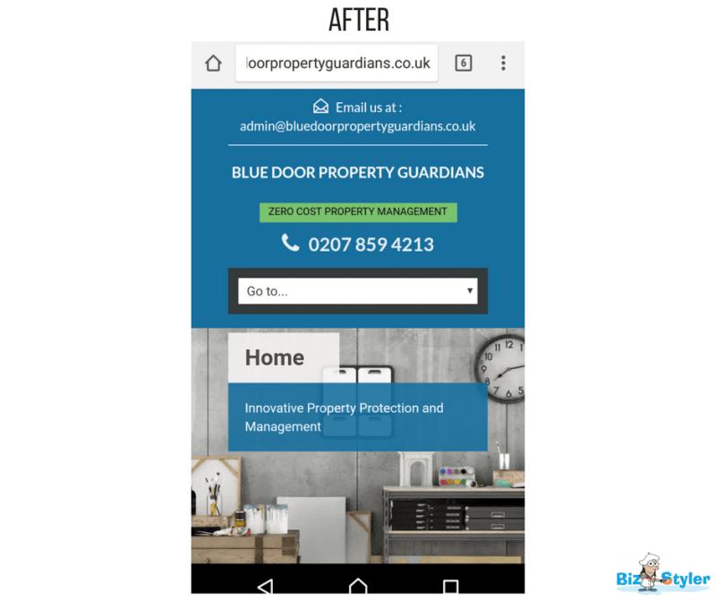 Bizstyler - Client - Blue Door Property Guardians - Website After
