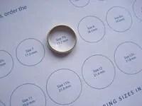 gyűrűméret meghatározás