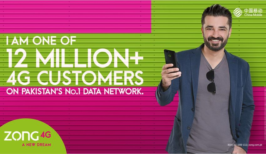 With More than 12 million 4G Subscribers, Zong 4G is the most