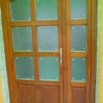 Kétszárnyú bejárati ajtó beépítés