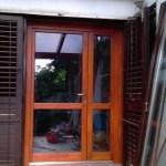 Kétszárnyú szigetelt bejárati ajtó