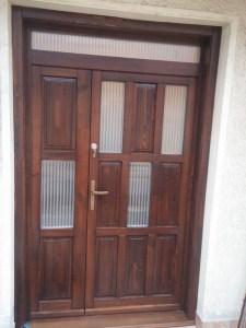 Óhegy fa bejárati ajtócsere