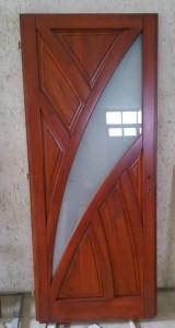 Csepel-Erdőalja fa bejárati ajtócsere