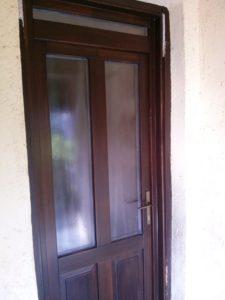 Rézmál fa bejárati ajtócsere