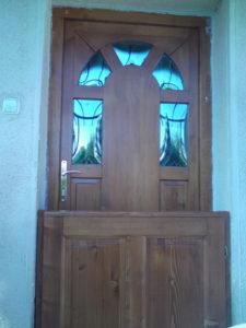 Téglagyárdűlő fa bejárati ajtócsere