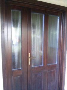 Farkasrét fa bejárati ajtócsere