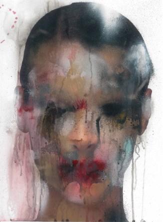 Marco Rea, Untitled, pittura spray su immagine fotografica