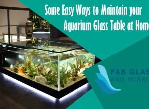Aquarium Glass Table