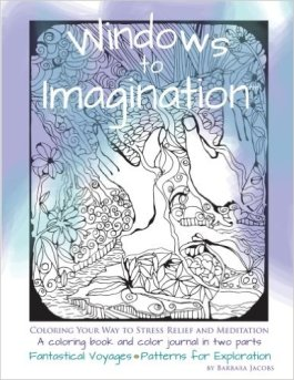 Windows to Imagination - front cover - coloring book and color journal