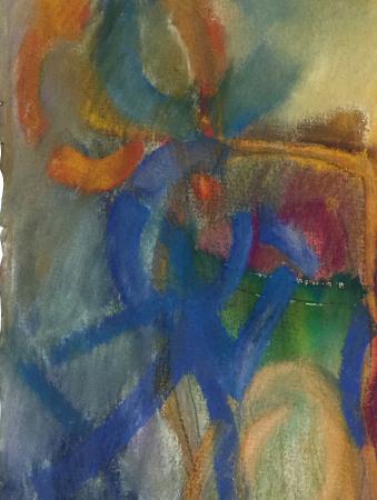 Blue Dancer Pastel