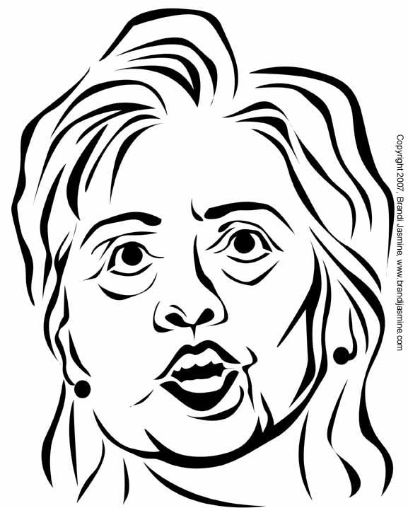 Hillary Clinton Pumpkin Carving Pattern