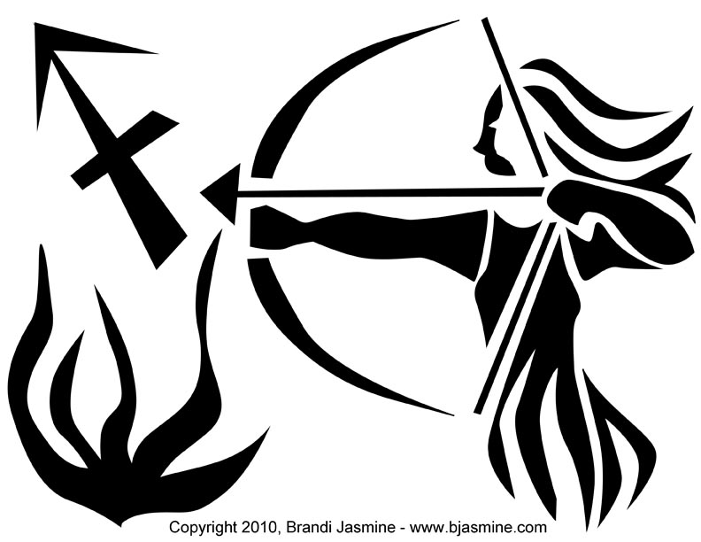 Sagittarius Zodiac Sign Pumpkin Carving Pattern