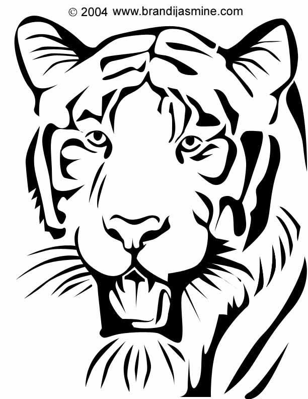 Tiger Pumpkin Carving Pattern