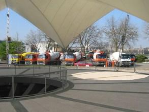 Instandhaltungsarbeiten an den Rheinterrassen, Tanzbrunnen Köln Betonfördermenge ca. 600 cbm an einem Tag; Gesamtvolumen ca. 850 cbm