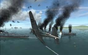 plane under fire at Pearl Harbor