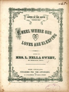 A hymn published in 1867, Kneel Where Our Loves are Sleeping by Nella L. Sweet