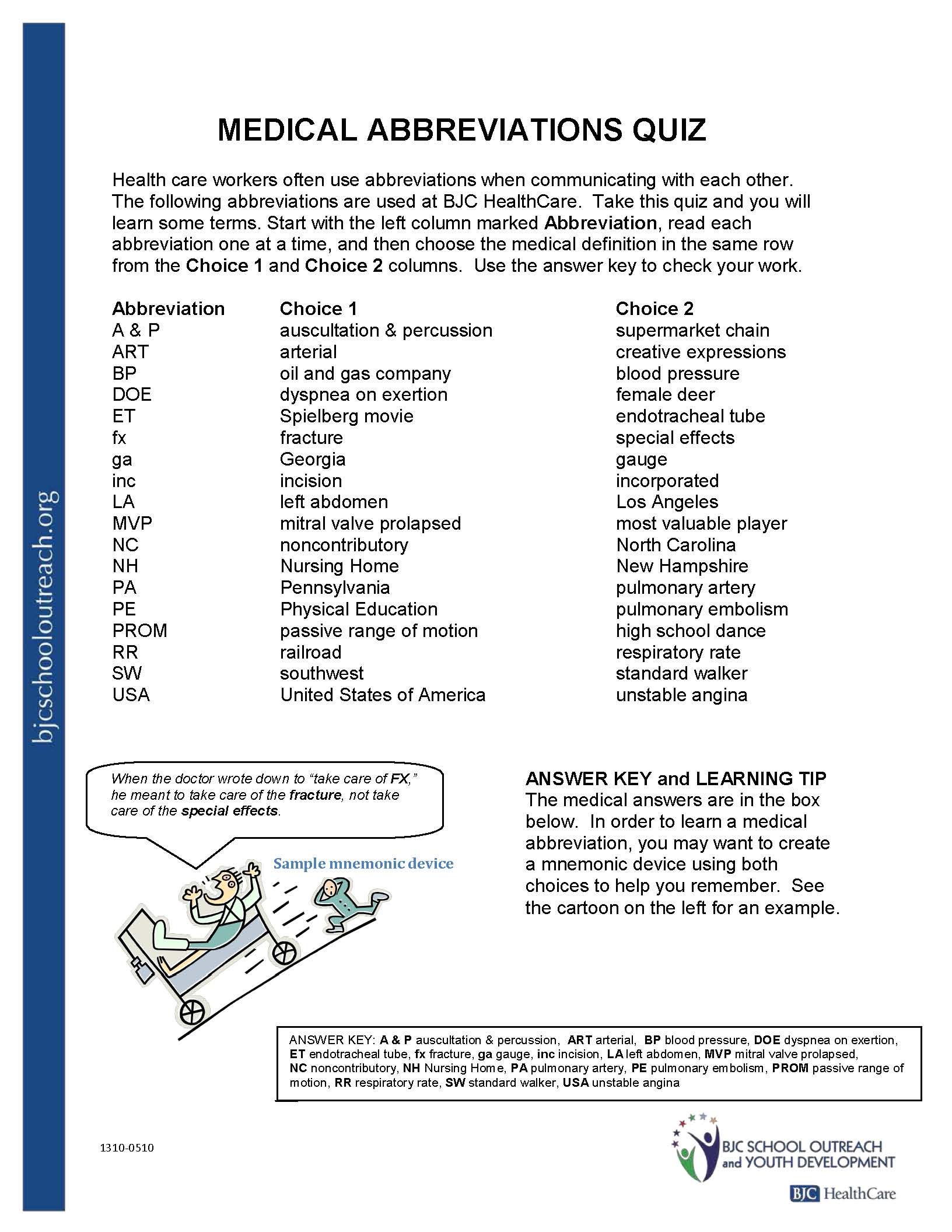 Health Science Worksheet High School