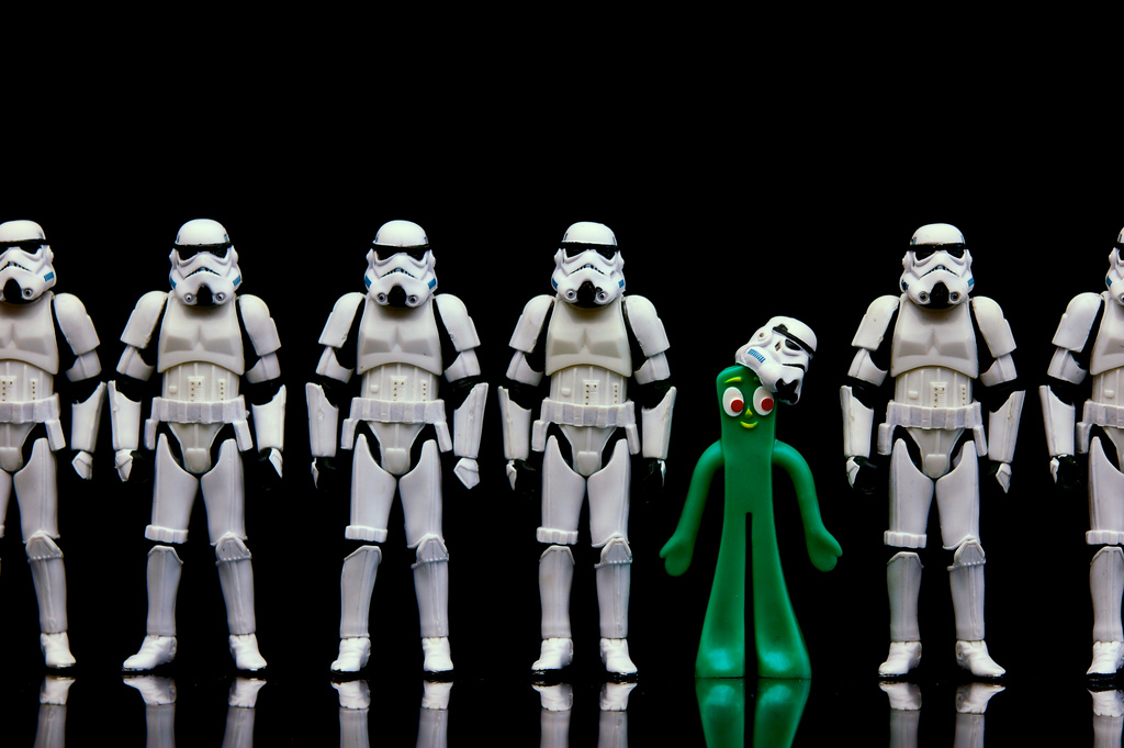 Storm Trooper Gumby Is The Bendy BJJ White Belt