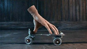 addams family hand skateboard what was my hand doing